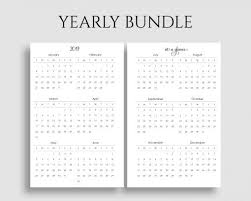 At A Glance Yearly Calendars Yearly Calendar Bundle 2019 2020