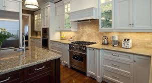 kitchen design countertops and backsplash cream cabinets