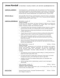 Clerical Work Resume Resume Samples For Clerical Positions