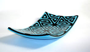 fused glass patterns fused glass geometric triangle plate by dimensions in art glass