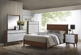 Mid Century Modern Furniture Bedroom Sets Mid Century Modern Queen Bedroom Set 204301q Savvy Discount