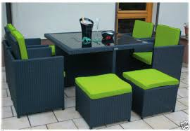 replacement 12pc cushion set to fit 8 seater rattan garden furniture dining cube