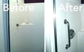 install one piece shower stall bathtub