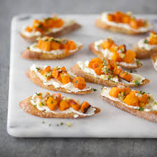 Crostini With Butternut Squash, Ricotta And Preserved Lemon