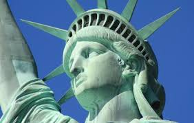 Image result for President Grover Cleveland dedicates the Statue of Liberty in New York Harbor.