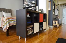 Furniture:Creative Space Saving CD Storage Solution Idea Open Black Cabinet  For Small Wadrobe Idea