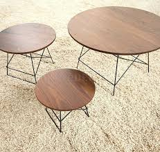coffee table metal legs round wooden coffee table with metal legs