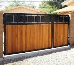 black metal frame and vertical slatted wood gate design for house inspiring wooden designs homes f