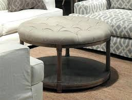 round coffee table ottoman old round coffee table ottoman