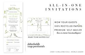 plain rsvp cards all in one wedding invitations send and seal wedding invitations