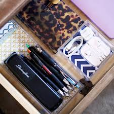 give your desk drawers some style with simple semi diy desk organizers
