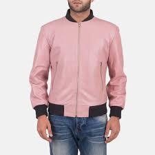 men s shane pink leather er jacket 1