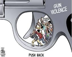 stevenfenyes eng  the third image is a cartoon that shows the literal meaning of pushing back against gun violence i chose this image because i found it interesting that the
