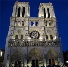 vue de la faaade ouest de. C Cathédrale Notre Dame De Paris, Façade Vue Nuit La Faaade Ouest D