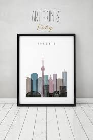 Small Picture Toronto print Poster Wall art Toronto skyline art Distressed