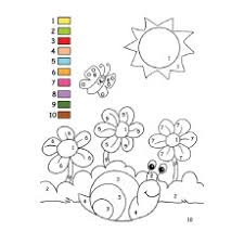 colouring pages for preschoolers printable. Modren For Fill The Colors By Number Intended Colouring Pages For Preschoolers Printable F