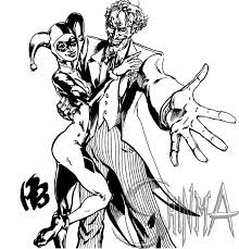 Small Picture Harley Quinn Joker Coloring Pages Coloring Pages Ideas
