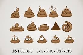 These can be used in website. Poop Emoji Bundle Graphic By Euphoria Design Creative Fabrica