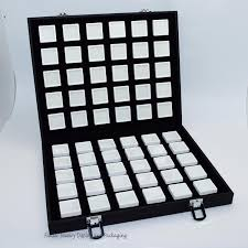 Superior Leatherette Gem Storage Box Diamond Display Case Portable Travel  Jewelry Tray with 60pcs 3*3cm Gem Boxes-in Jewelry Packaging & Display from  ...