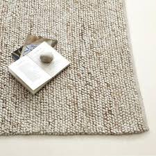 mini pebble wool jute rug natural ivory and pottery barn chunky gray