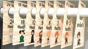 free printable harry potter baby closet dividers