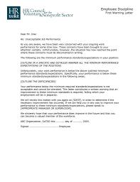 Hr Warning Letter Employee Warning Letter Sample Format Save Formal Warning Letter