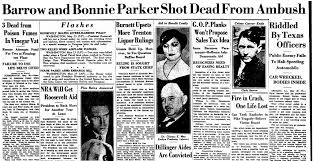 Image result for Bonnie Parker and Clyde Barrow are gunned down by police officers in Louisiana. map