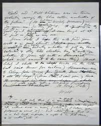scholarly editing the annual of the association for documentary  figure 3 the second leaf of a draft letter from whitman to peter doyle