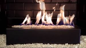 golden blount alpine linear gas fireplace burner with crystal from fireplaces with glass rocks source