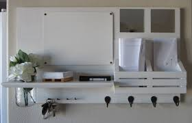 image of entryway mirror with hooks ikea