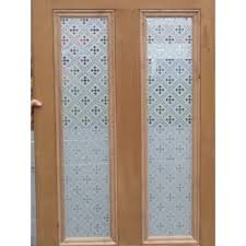 Frosted Glass Designs Victorian 4 Panel Etched Glass Door With Druid Or Gothic Glass Design