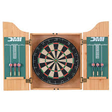 Dart Board Cabinet With Chalkboard Dmi Darts Deluxe Bristle Dart Board Complete Set Walmartcom