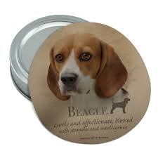 Beagle Dog Breed Round Rubber Non-Slip ...
