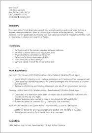 Resume Templates: Airline Ticketing Agent