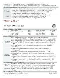 resume sample slideshare template curriculum vitae sample slideshare