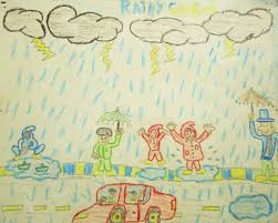 five best drawings of rain by children of taiyyebiyah school  rainy season1