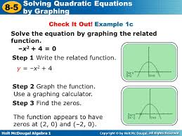 example 1c solve the equation by graphing the function
