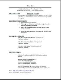 Veterinary Receptionist Resume Amazing Vet Tech Cv Surdyka