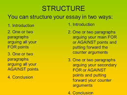 how to write a discursive essay ppt video online  3 structure