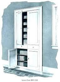 vintage linen cabinet antique built in with hamper clothes white bathroom closet shelf freestanding cabi linen cabinet with hamper