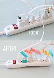Cords Label Before and After