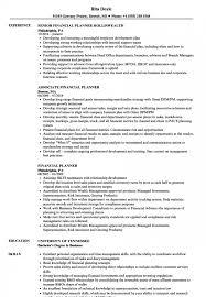 Financial Planner Resume Samples Velvet Jobs Bachelor Of Business ...