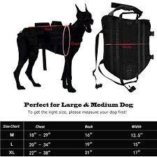 Service Dog Vest Size Chart Gtpeak Tactical Dog Harness Service Dog Vest With No Pull