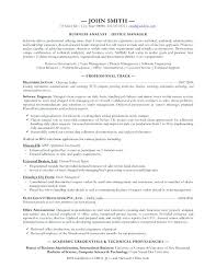 Business Analyst Resume Examples Template Impressive Business Systems Analyst Resume Sample Directory Resume