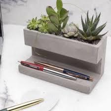 concrete desktop planter gift idea