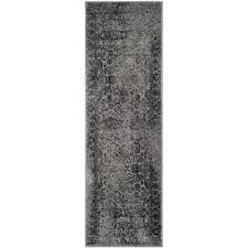 safavieh adirondack grey black 3 ft x 18 ft runner rug