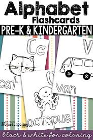 Alphabet flashcards in uppercase and lowercase for your kindergarten! Free Printable Alphabet Flashcards To Color And How To Use Them