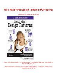 Head First Design Patterns Ebook Free Free Head First Design Patterns Pdf Books