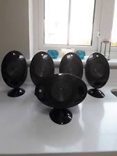 kef egg. kef egg surround sound speakers with cube 2 sub woofer