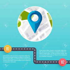 Road Infographic Template Flat Design Vector Illustration Royalty